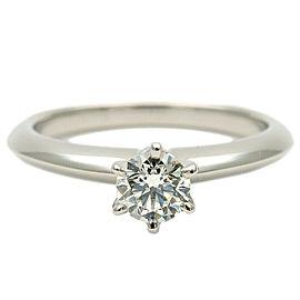 Tiffany&Co. Solitaire Platinum Diamond Ring