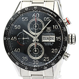 Polished TAG HEUER Carrera Calibre 16 Chronograph Day Date Watch CV2A10