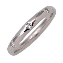 Van Cleef & Arpels Etoile Platinum Diamond Ring Size 6.25