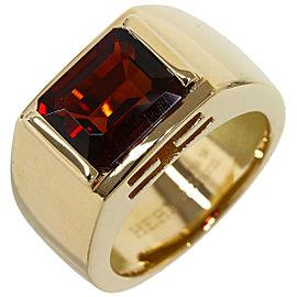 HERMES Citrine Clarte Ring in 18K Yellow Gold US6.25
