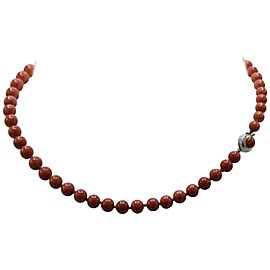 Round Coral Bead Necklace