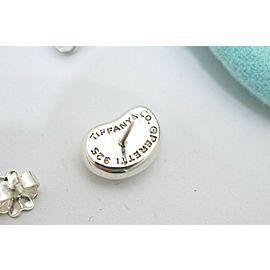 Tiffany & Co. Sterling Silver Elsa Peretti Bean Earrings