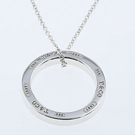 TIFFANY & Co. Silver 1837 Circle Necklace TBRK-606