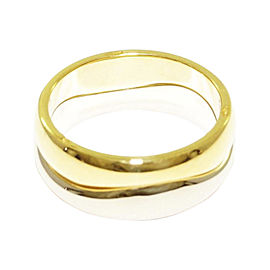 Cartier 18K Yellow and White Gold Ring Size 6.25