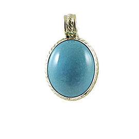David Yurman Sterling Silver and 18K Yellow Gold Turquoise Albion Pendant