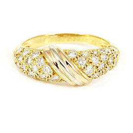 Cartier 18K Rose Gold/18K Yellow Gold/18K White Gold, Diamonds Pave Trinity Ring CHAT-138