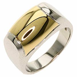 BVLGARI 18k Yellow Gold 18k White Gold Tromket Ring
