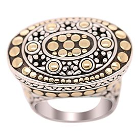 John Hardy Silver and Gold Oval Circles Ring
