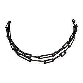 Alexis Bittar Black Rhodium Plated Chain Necklace