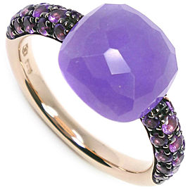 POMELLATO 18K yellow gold/Purple stone Nude Ring NST-1097
