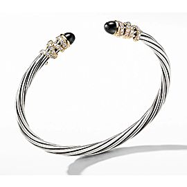 David Yurman Helena Bracelet with Black Onyx and Diamonds