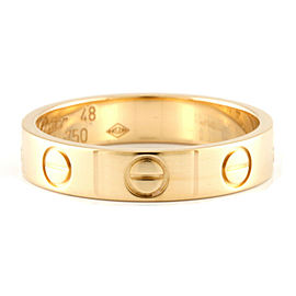 CARTIER 18K Gold Mini love Ring CHAT-226