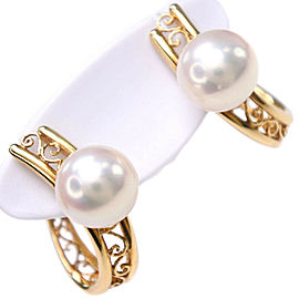 18k yellow gold/Pearl Earring
