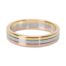 Cartier Trinity 18K Yellow, White & Rose Gold Band Ring Size 10.75
