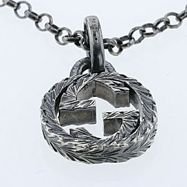 GUCCI 925 silver Necklace Interlocking Necklace