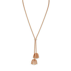 "Cartier Paris ""Nouvelle Vague"" Necklace 18K Rose Gold Diamond"