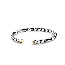 David Yurman Cable Classic Bracelet with 18K Gold & Diamonds