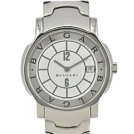 BVLGARI Solo tempo ST35S Date White Dial Quartz Men's Watch