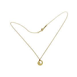 Tiffany & Co. 18K Yellow Gold Peretti Eternal Circle Pendant Necklace
