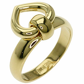 HERMES 18K Yellow Gold Heart motif Ring