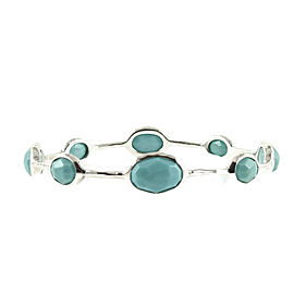 Ippolita Sterling Silver Rock Candy 8-Stone Turquoise Bangle Bracelet