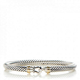 David Yurman 18K Yellow Gold Sterling Silver Cable Bracelet