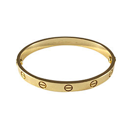 Cartier Love 18K 750 Yellow Gold Bangle Bracelet Size 16