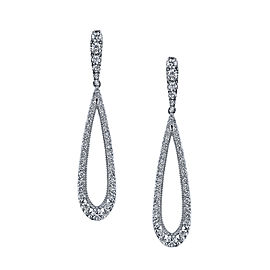 Tacori 18K White Gold and Diamond Drop Earrings