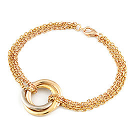 CARTIER 18K yellow goldx18K Pink Goldx18K white gold hooksChain Trinity Bracelet CHAT-228