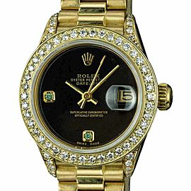 Rolex Ladies Datejust 69178 Diamond Dial and Bezel 26mm Womens Watch