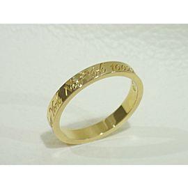 TIFFANY & CO. 18k yellow gold Notes narrow band Ring