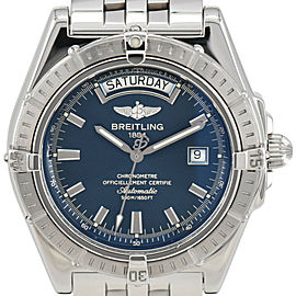 BREITLING Headwind day date A45355 Blue Dial Automatic Men's Watch