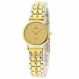 OMEGA Stainless Steel/Stainless Steel Gold plated De Ville Watch