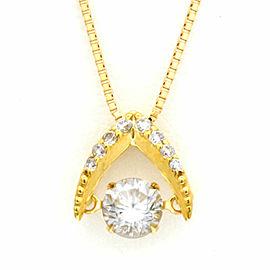 18k Yellow gold Diamond Dancing Venetian Chain Necklace CHAT-508