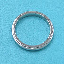 TIFFANY & CO 950 platinum Milgrain Bundling Ring