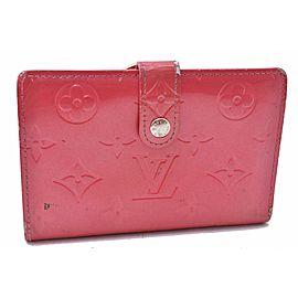 Louis Vuitton Vernis Porte Monnaie Billets Viennois Wallet Pink