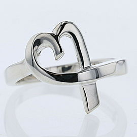 TIFFANY & Co Silver925 Loving heart Ring TBRK-523