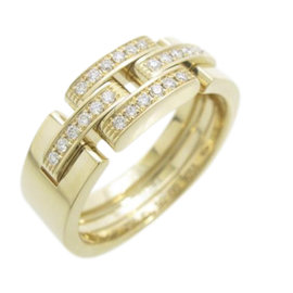 Cartier Maillon Panther 18K Yellow Gold Diamond Ring Size 5.25