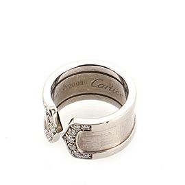Cartier C de Cartier Ring 18K White Gold with Diamonds 4 - 47