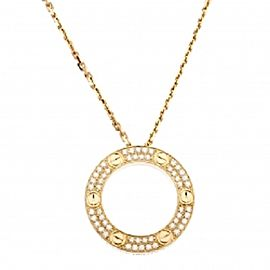 Cartier 18k Yellow Gold and Diamond Love Necklace