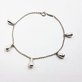 Tiffany & Co Elsa Peretti 5 Teardrop Sterling Silver Bracelet