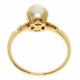 MIKIMOTO 14k Yellow Gold Pearl Akoya Ring