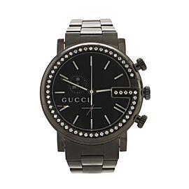 Gucci G Chrono Quartz Watch PVD Stainless Steel 44