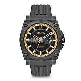 Bulova 98B294 Stainless Steel & Black Dial 46mm Mens Watch