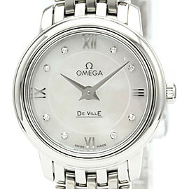 OMEGA De Ville Prestige Diamond MOP Dial Watch 424.10.24.60.55.001