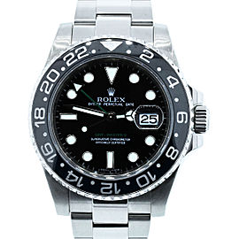 Rolex GMT Master II 116710 Stainless Steel & Black Dial 40mm Unisex Watch