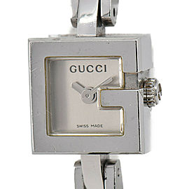 GUCCI 102R.YA102589 Stainless Steel/Leather Quartz Women's Watch