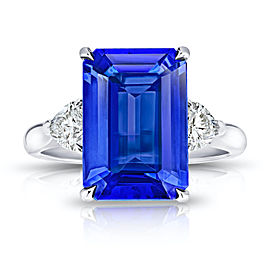 Platinum 6.29ctw. Tanzanite 0.61ctw. Diamond Ring Size 7