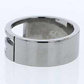 GUCCI Silver925 Cutout G logo Black coating Ring TBRK-500