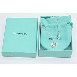 Tiffany & Co. Sterling Silver Peretti Open Double Heart Necklace